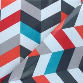 Tissu coton enduit Fryett's Jackson - multicolore x 10cm