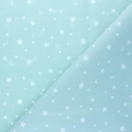 Tissu coton cretonne Zétoile - bleu céladon x 10cm