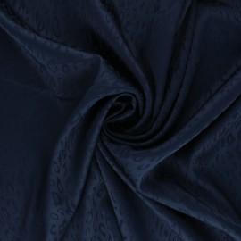 Satin Jacquard Lining Fabric - navy blue Fancy x 10cm