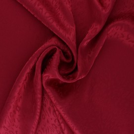 Satin Jacquard Lining Fabric - red Fancy x 10cm