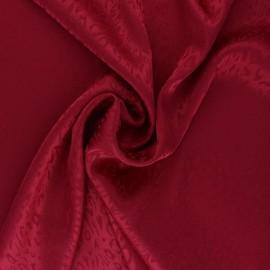 Tissu Doublure Jacquard satiné Fancy - rouge x 10cm