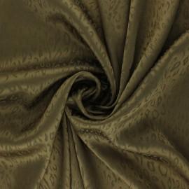 Satin Jacquard Lining Fabric - khaki green Fancy x 10cm