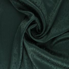 Satin Jacquard Lining Fabric - pine green Fancy x 10cm