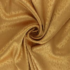 Satin Jacquard Lining Fabric - ochre Fancy x 10cm