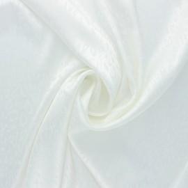 Satin Jacquard Lining Fabric - off-white Fancy x 10cm