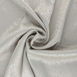 Satin Jacquard Lining Fabric - grey Fancy x 10cm