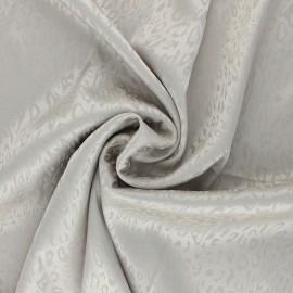 Tissu Doublure Jacquard satiné Fancy - gris x 10cm