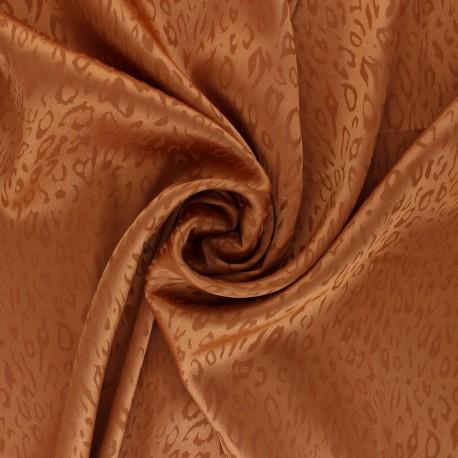 Tissu Doublure Jacquard satiné Fancy - roux x 10cm