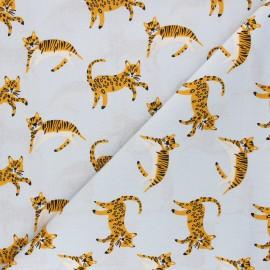 Tissu coton popeline Savannah Friends - gris x 10cm