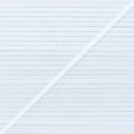 Elastique masque Soft 4 mm - Blanc x 1m