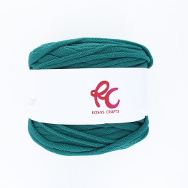 Trapilho quilted yarn - emerald green Pluma