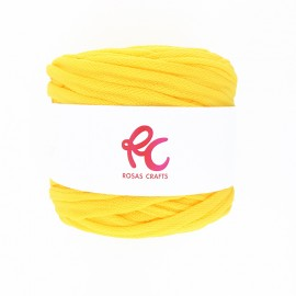 Trapilho quilted yarn - yellow Pluma