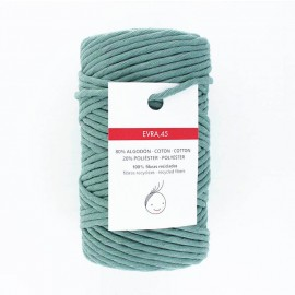 6mm recycled macramé cord - teal blue Evra