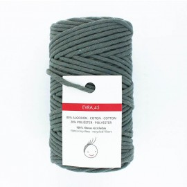 6mm recycled macramé cord - grey green Evra