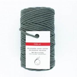 Cordon macramé 6mm recyclé Evra - vert de gris