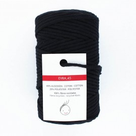 6mm recycled macramé cord - black Evra