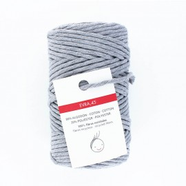 6mm recycled macramé cord - grey Evra
