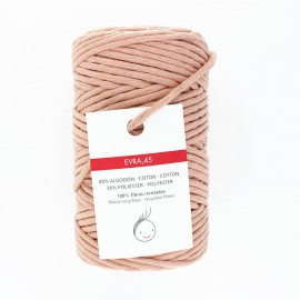 6mm recycled macramé cord - soft pink Evra