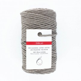 6mm recycled macramé cord - taupe grey Evra