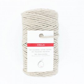 Cordon macramé 6mm recyclé Evra - naturel