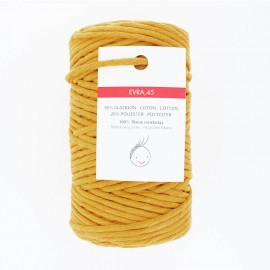 Cordon macramé 6mm recyclé Evra - jaune moutarde