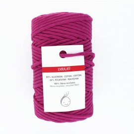 6mm recycled macramé cord - purple Evra