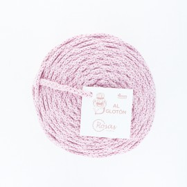 4mm recycled cord - powder pink