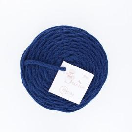 Cordon recyclé 4 mm - bleu marine