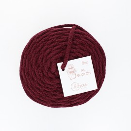 4mm recycled cord - bordeaux
