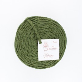 4mm recycled cord - green