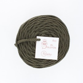 4mm recycled cord - khaki green