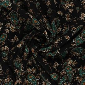 Tissu Viscose Jasmine - noir x 10 cm