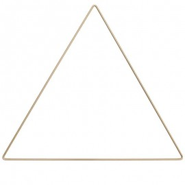Triangle métal Rico Design 30 cm - or