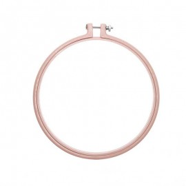 17,8 cm Rico Design Wooden embroidery hoop - powder pink