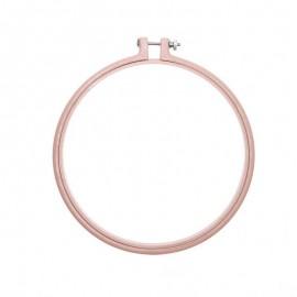 Cadre tambour à broder 17,8 cm Rico Design - Rose poudré