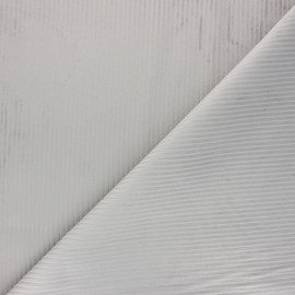 Thevenon ribbed velvet fabric - pearl grey x 10cm