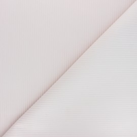 Thevenon ribbed velvet fabric - powder pink x 10cm