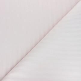 Tissu velours côtelé Thevenon - rose poudré x 10cm