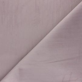 Tissu velours côtelé Thevenon - vieux rose x 10cm