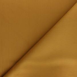 Thevenon ribbed velvet fabric - ochre x 10cm