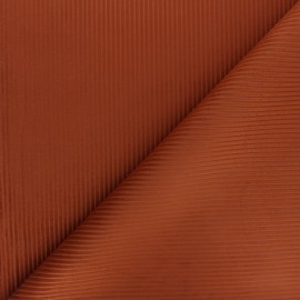 Thevenon ribbed velvet fabric - Sienna x 10cm