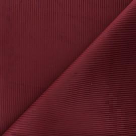 Tissu velours côtelé Thevenon - bordeaux x 10cm