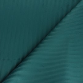 Tissu velours côtelé Thevenon - bleu canard x 10cm