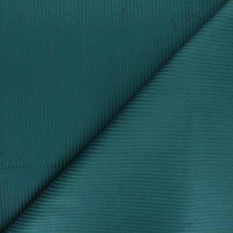 Thevenon ribbed velvet fabric - duck blue x 10cm