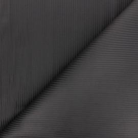 Tissu velours côtelé Thevenon - gris anthracite x 10cm