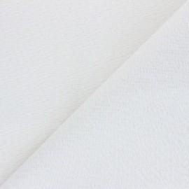Tissu toile polycoton Cubex - blanc x 10cm