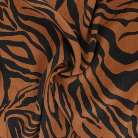 Lyocell Tencel twill fabric - camel Crazy Zebra x 10cm