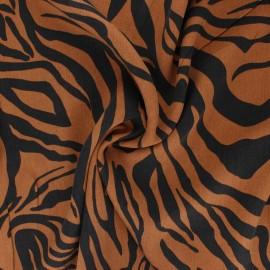 Tissu lyocell Tencel sergé Crazy Zebra - camel x 10cm