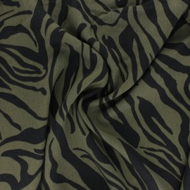 Lyocell Tencel twill fabric - khaki green Crazy Zebra x 10cm