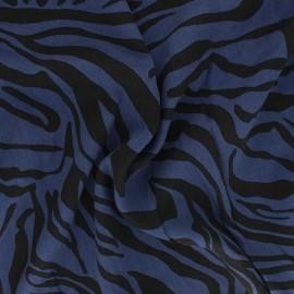 Lyocell Tencel twill fabric - sapphire blue Crazy Zebra x 10cm